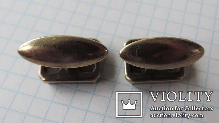 Запонки серебренные №19, фото №8