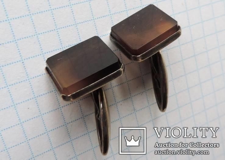 Запонки серебренные №19, фото №11