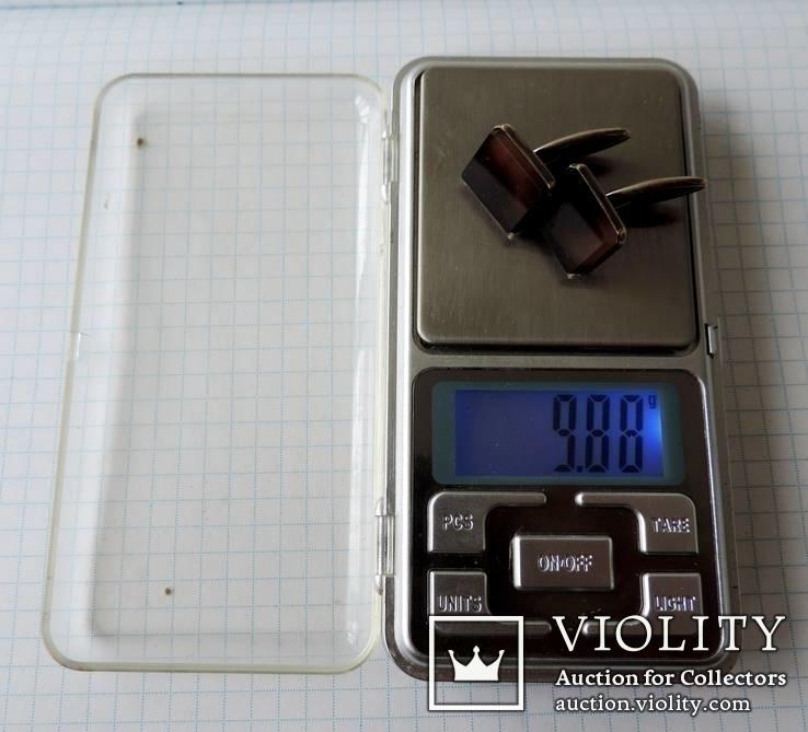 Запонки серебренные №19, фото №12