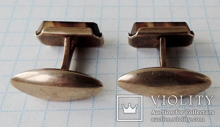 Запонки серебренные №26, фото №11