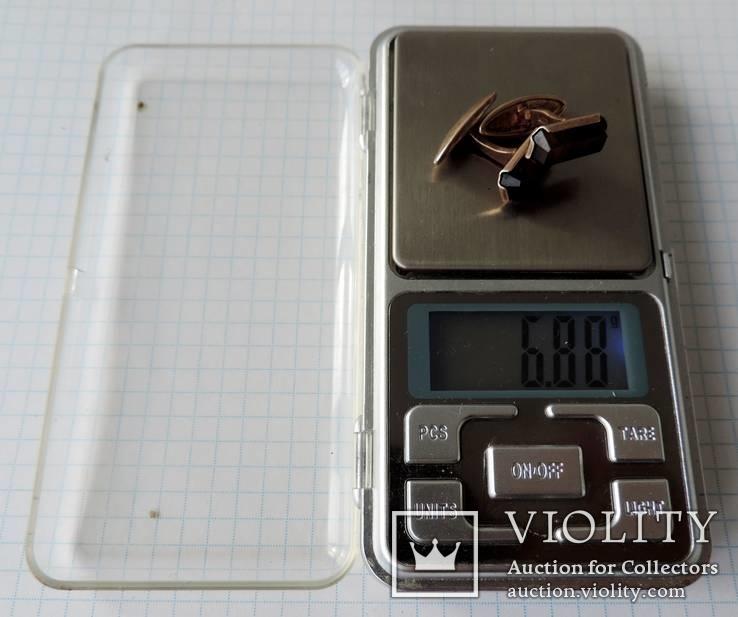 Запонки серебренные №26, фото №13