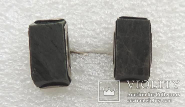 Запонки серебренные №32
