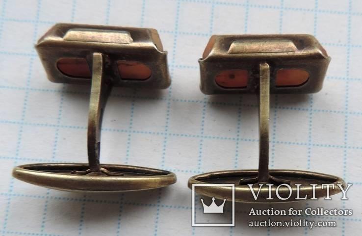 Запонки серебренные №33, фото №9