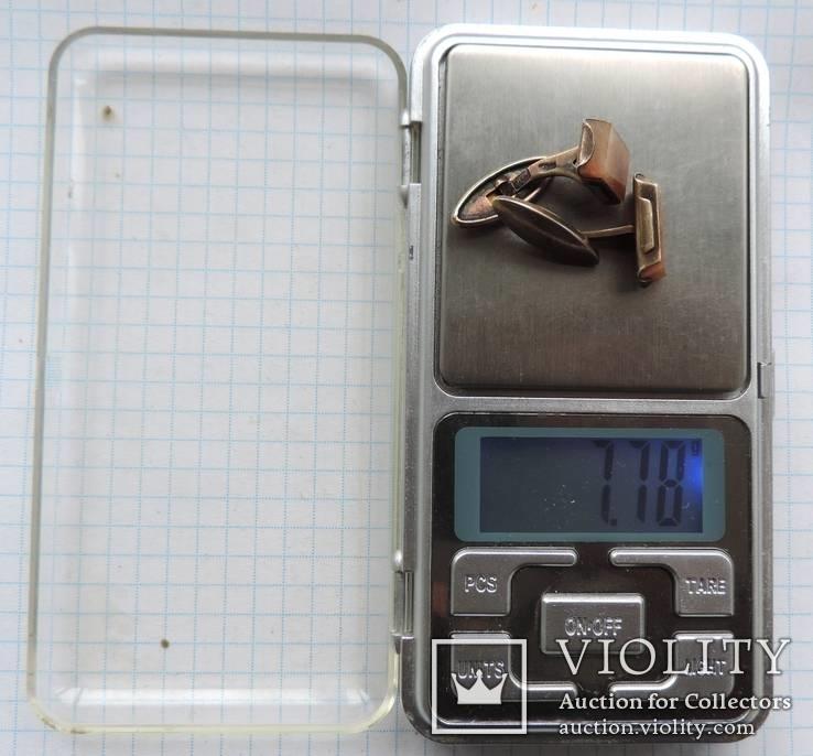 Запонки серебренные №33, фото №13