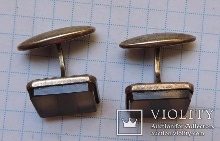 Запонки серебро №46, фото №3