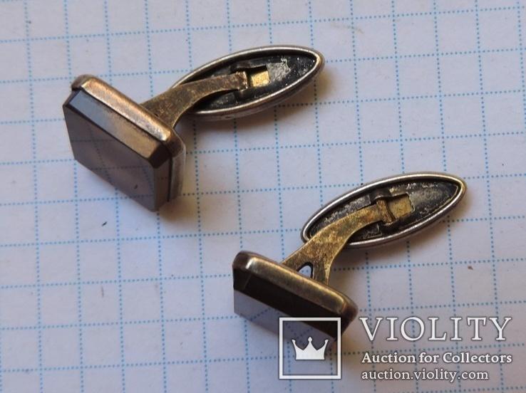 Запонки серебро №46, фото №5