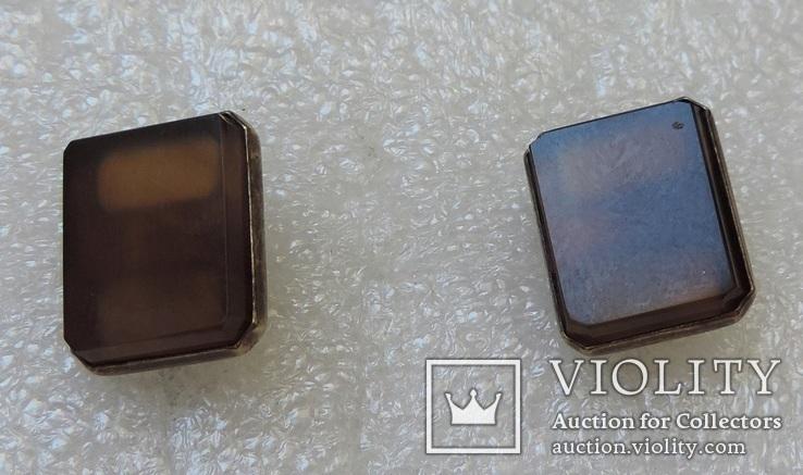 Запонки серебро №46, фото №9