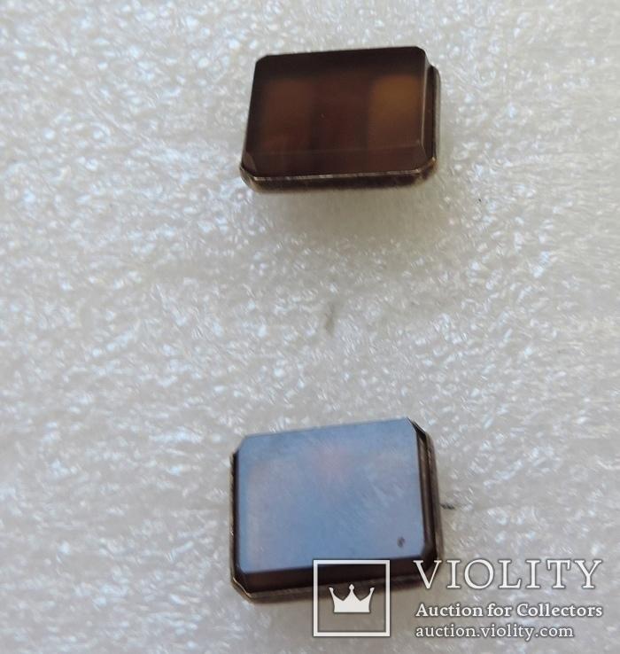 Запонки серебро №46, фото №11