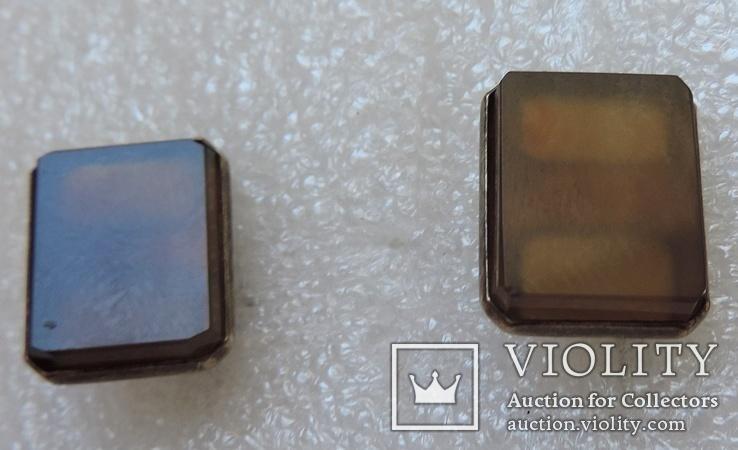 Запонки серебро №46, фото №12