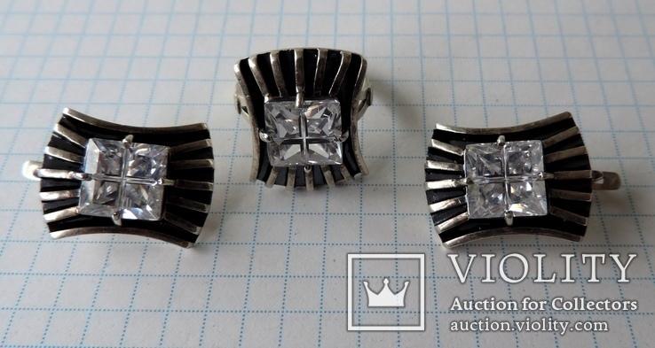 Серьги + кольцо (1), фото №2