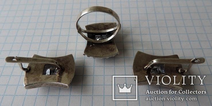 Серьги + кольцо (1), фото №3