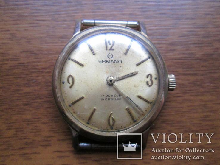 Швейцарские часы Ermano (позолота 20 микрон)