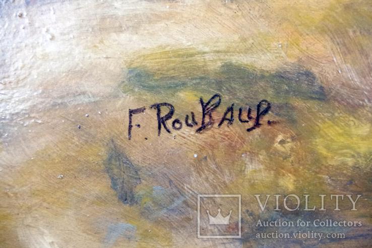 Франц Алексе́евич Рубо́ Масло на деревянной доске, фото №4