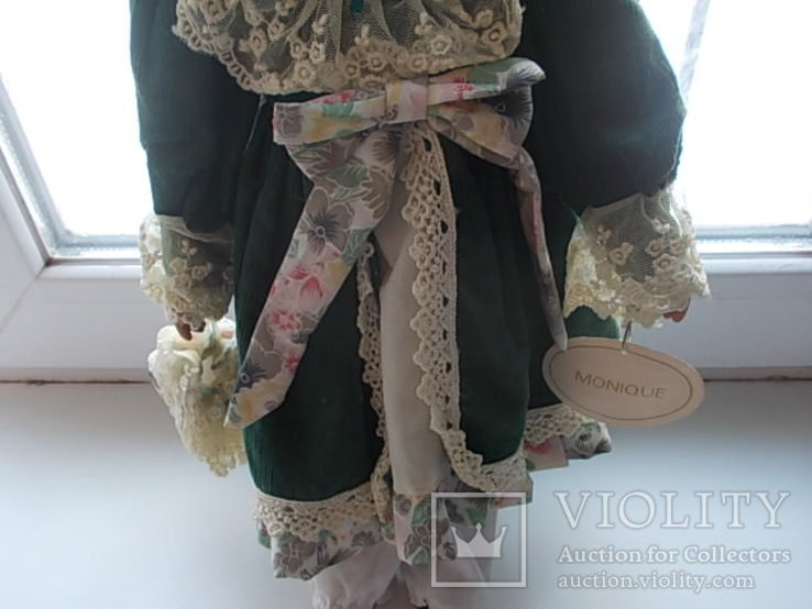 Фарфоровая кукла. Monique Финляндия  41 см., фото №4