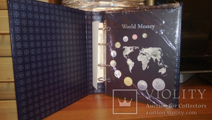 АЛЬБОМ на 152 монеты OPTIMA WorldMoney с тиснением, Leuchtturm, фото №4