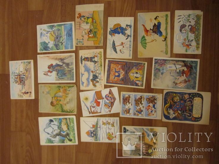 17 открыток из сказок СССР и Германия 1956,1967гг., фото №2