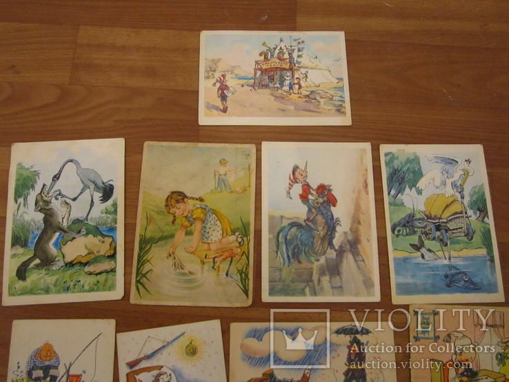 17 открыток из сказок СССР и Германия 1956,1967гг., фото №3