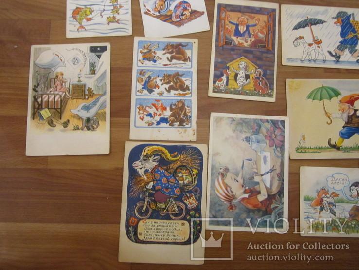 17 открыток из сказок СССР и Германия 1956,1967гг., фото №5