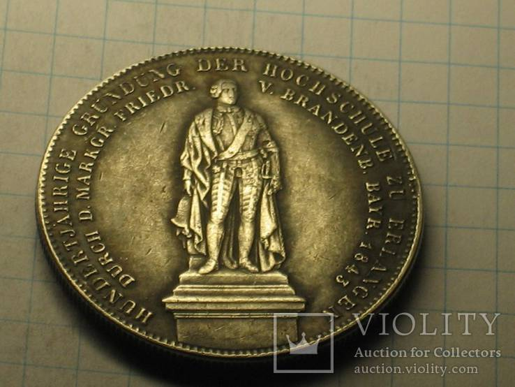1843 Германия Людвиг І копия, фото №2