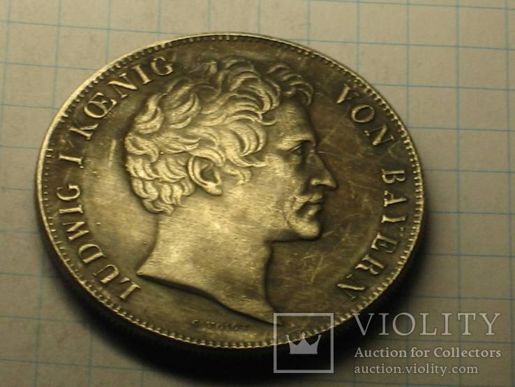 1843 Германия Людвиг І копия, фото №3