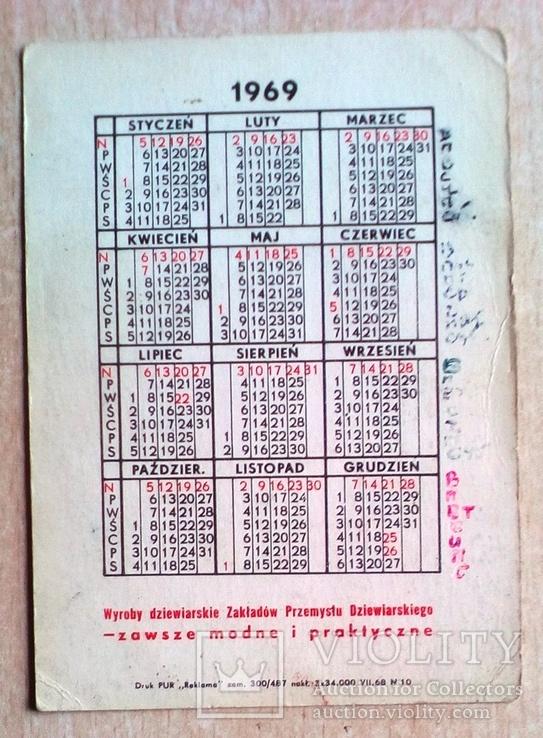 Польский календарик 69 г., фото №3