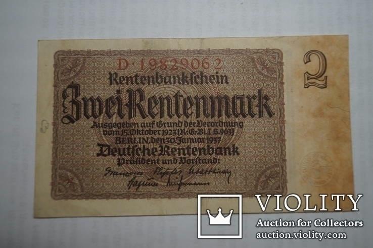 Бона 2 марки 1937 р. Німеччина, фото №2