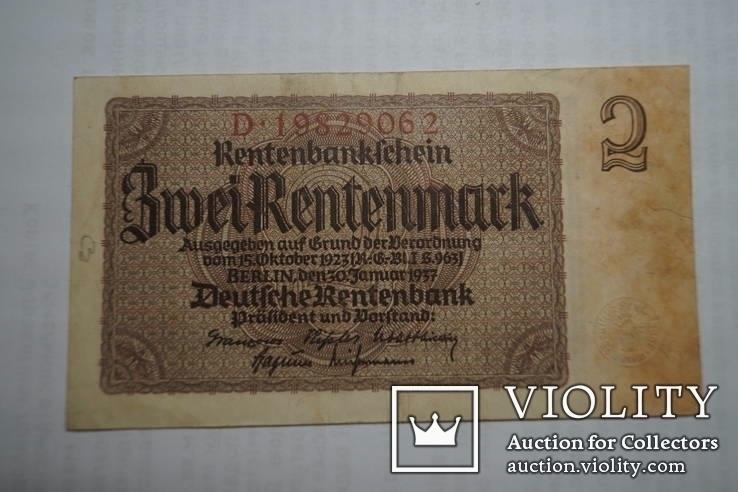 Бона 2 марки 1937 р. Німеччина, фото №3