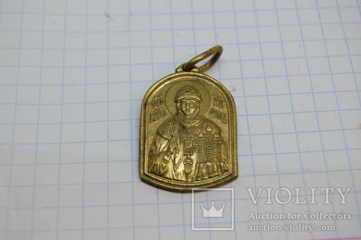 Ладанка Княгиня Ольга. латунь, фото №2
