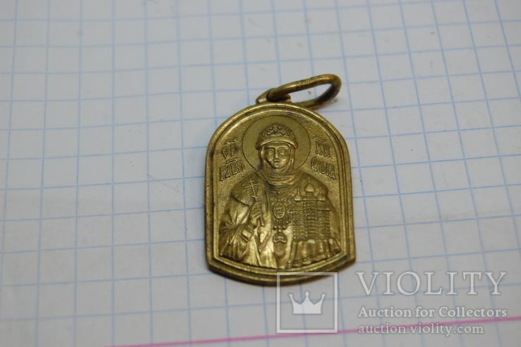 Ладанка Княгиня Ольга. латунь, фото №4