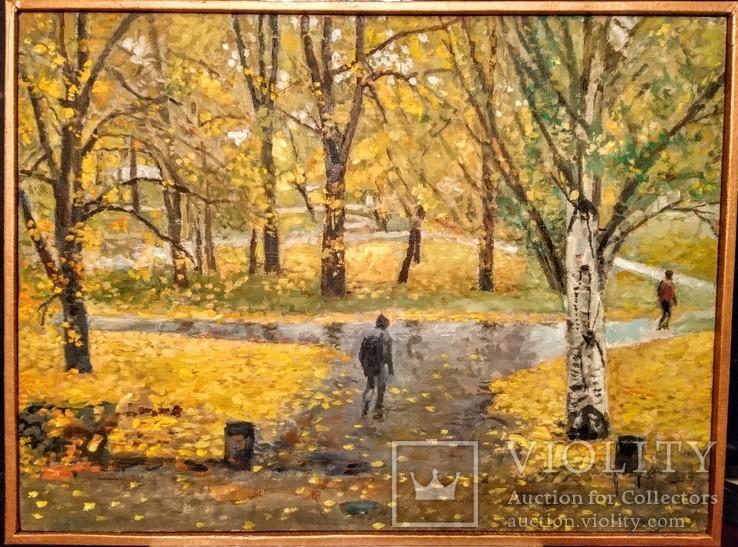 """""""Осень в городском парке"""", 73*59 см."""