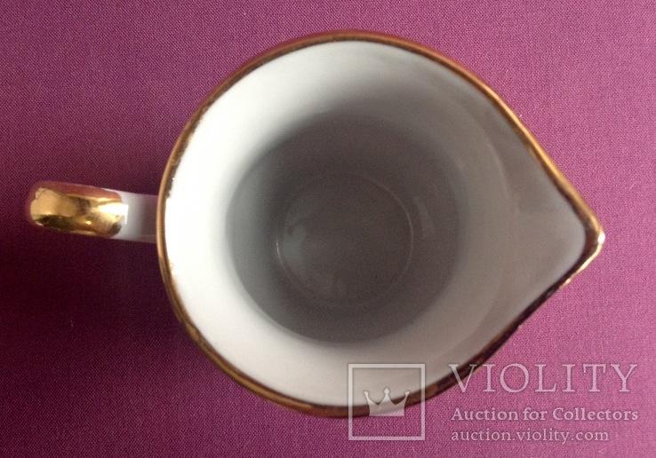 Сливочник / молочник Золотые снежинки. Фарфор, позолота., фото №6