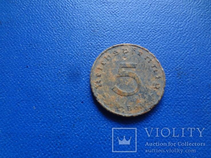 5  пфеннигов  1940  В  Германия   (Ж.2.33)~, фото №3