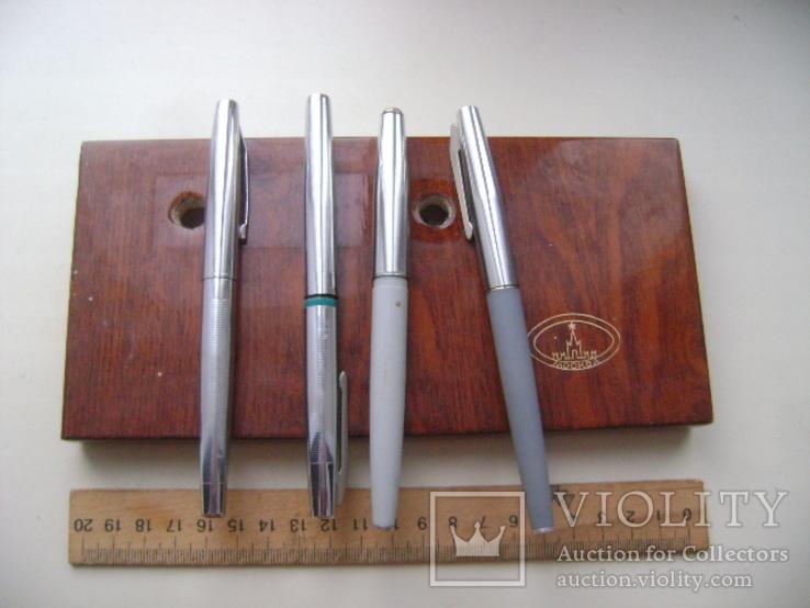 Ручки перьевые и подставка, фото №2