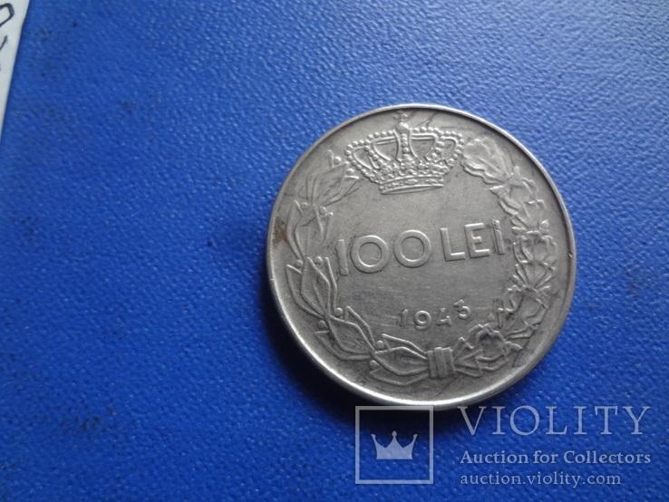 100  лей  1943  Румыния   (Ж.5.2)~, фото №3