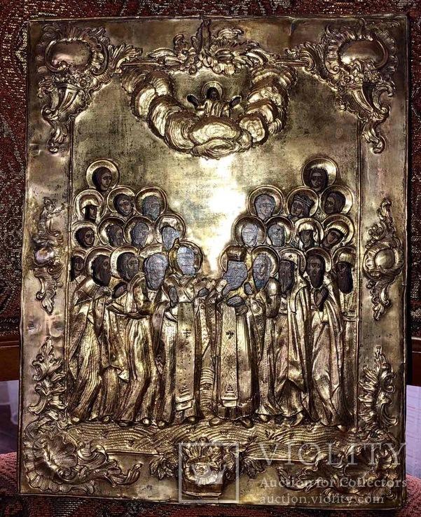Икона серебро позолота