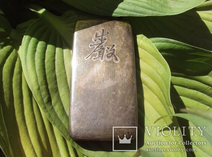 Серебряная таблетница, Япония 19 век., фото №2