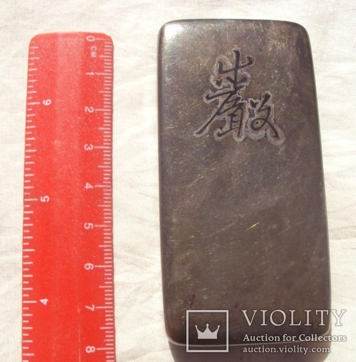 Серебряная таблетница, Япония 19 век., фото №4