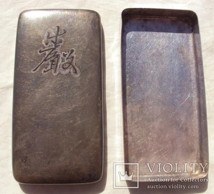 Серебряная таблетница, Япония 19 век., фото №5