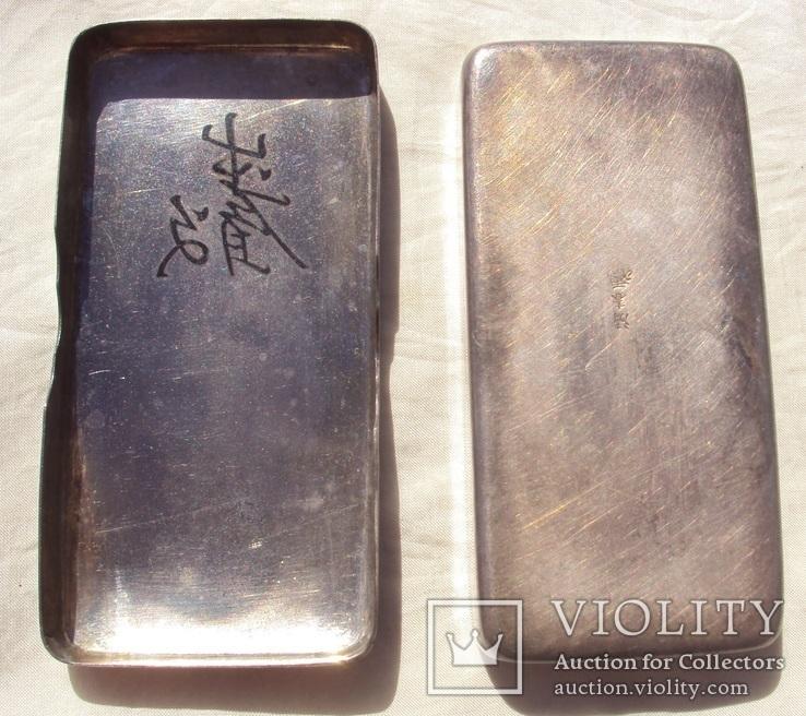 Серебряная таблетница, Япония 19 век., фото №7