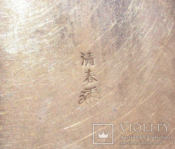 Серебряная таблетница, Япония 19 век., фото №8