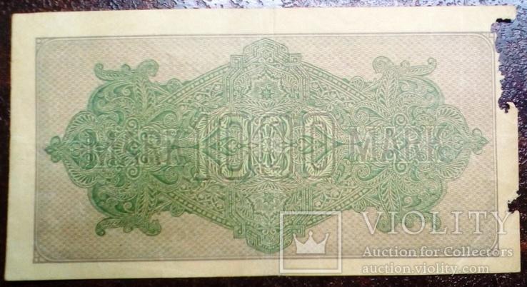 1000 рейхсмарок 1922 г. Германия., фото №3