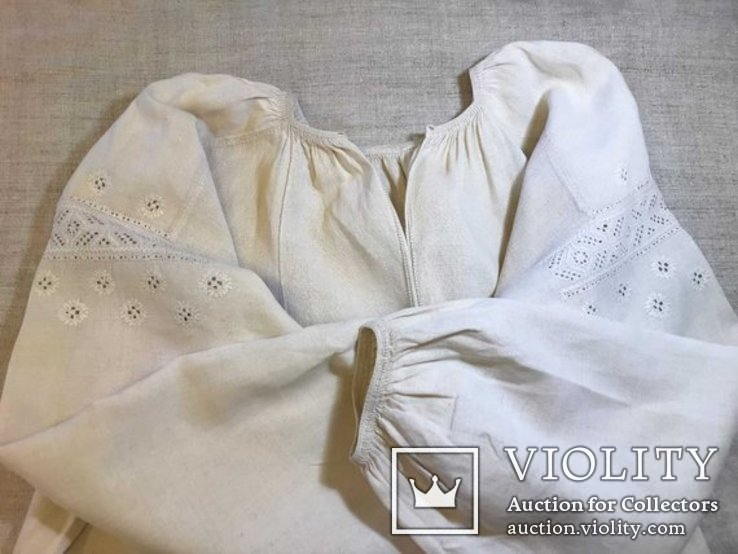 Льняная Вышиванка. .Белым по белому. Полтавская область., фото №2