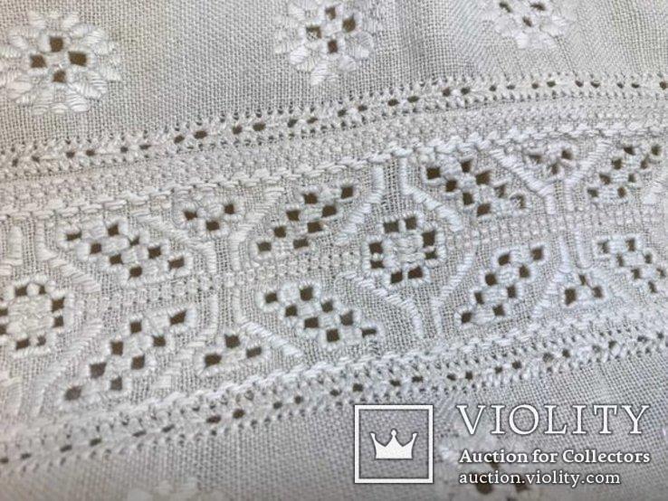 Льняная Вышиванка. .Белым по белому. Полтавская область., фото №4