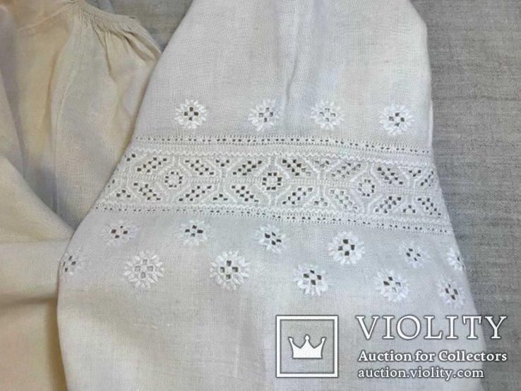 Льняная Вышиванка. .Белым по белому. Полтавская область., фото №5