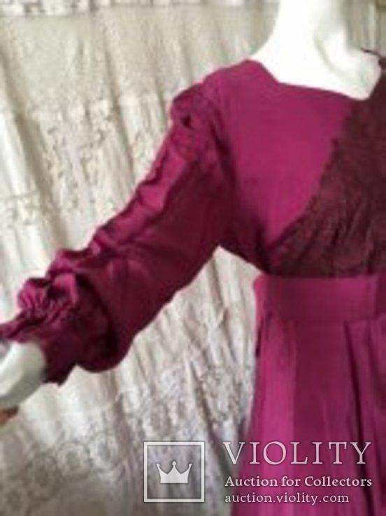 Крепдешиновое платье ярко малиновое 1950 год., фото №7