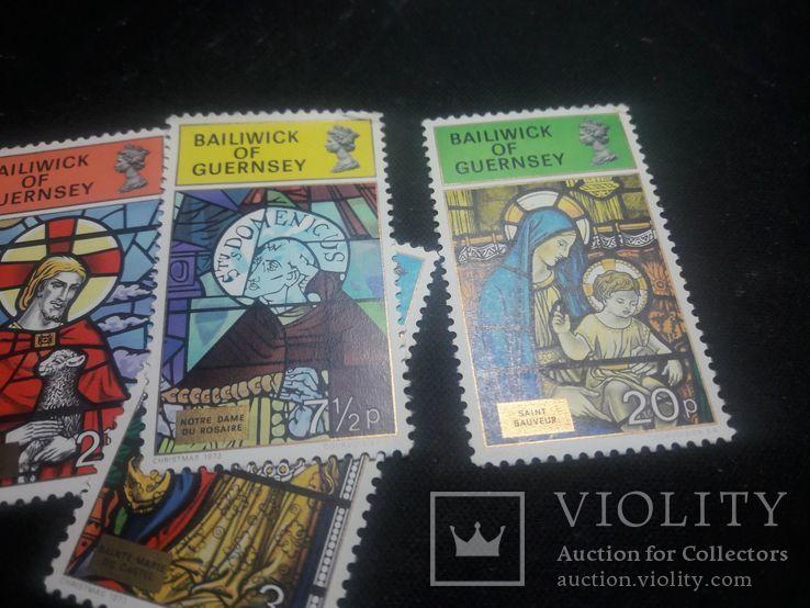 Полная серия марок Гернси(Великобритания) 1973 г., фото №6