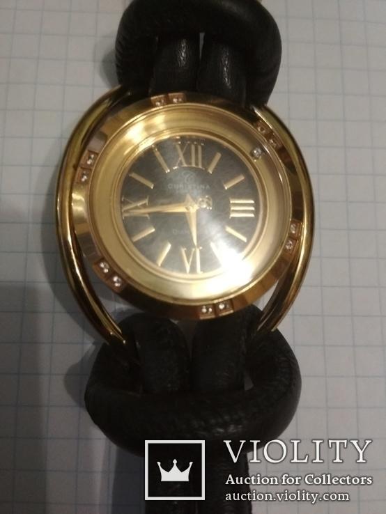 Часы Cristina , брилиант 12 сапфиров, фото №2