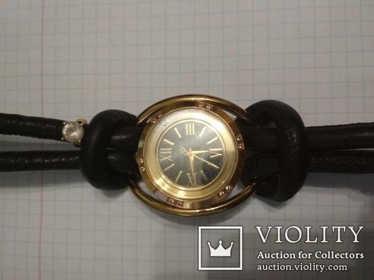 Часы Cristina , брилиант 12 сапфиров, фото №3