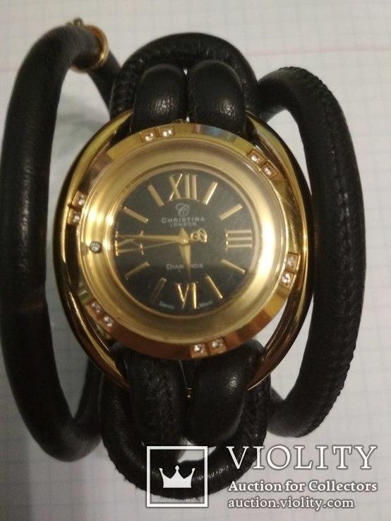 Часы Cristina , брилиант 12 сапфиров, фото №7