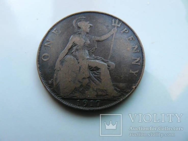 "Великобритания ""1 пенни 1917 г. Георг V"", фото №2"